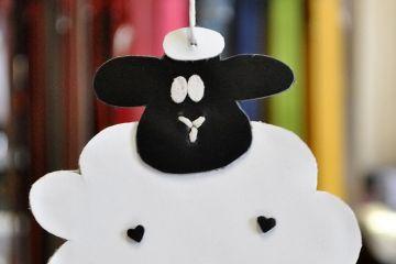 Húsvéti bárányka bőrből